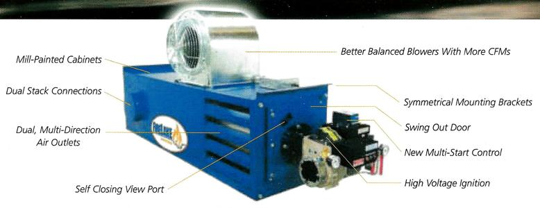 WASTE OIL HEATER FEATURES